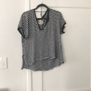 Stripped free people t-shirt